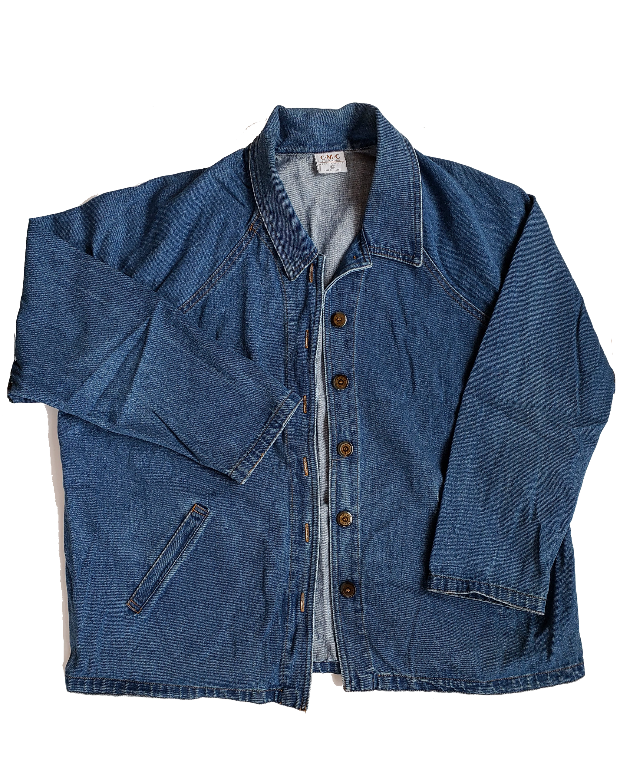 Vintage Rad 90's Over-sized Light Denim Jacket