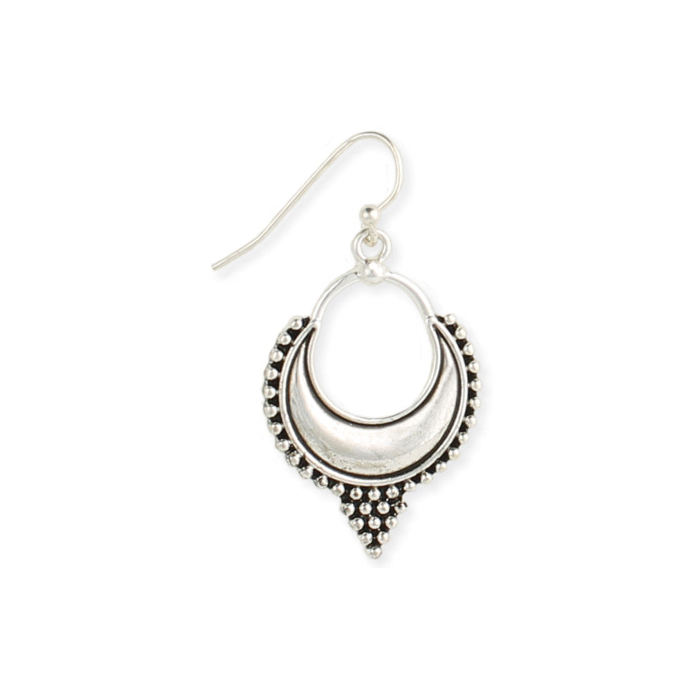 Sleepy Moon in Bali Dangle Earrings