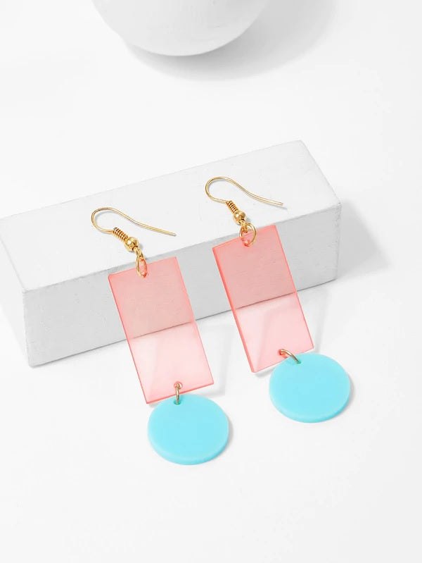 They're Jingling Baby Sheer Neon Acrylic Geo Earrings