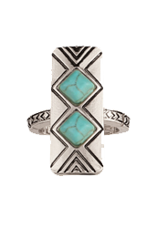 Turquoise Tower Ring
