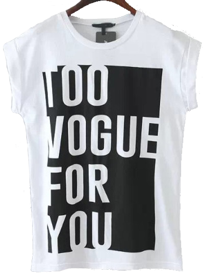 Too Vogue for You Tee