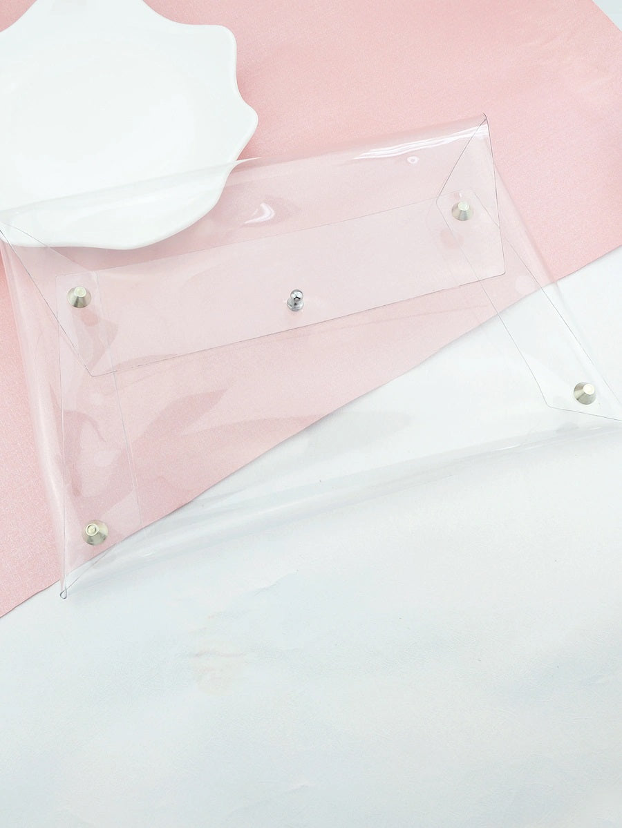 Crystal Clear Envelope Clutch