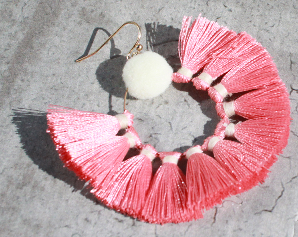 Peach Passementerie Earrings