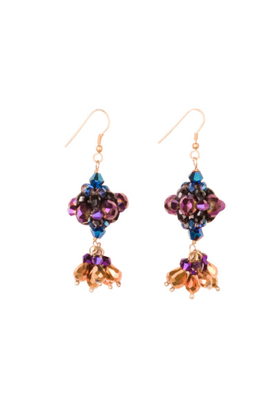 MIDNIGHT BEADWEAVE DROP EARRING