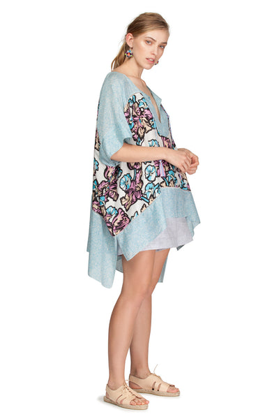 PATCHPRINT KAFTAN TOP