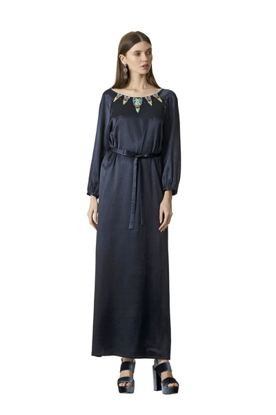 SILA SATIN EVENING MAXI
