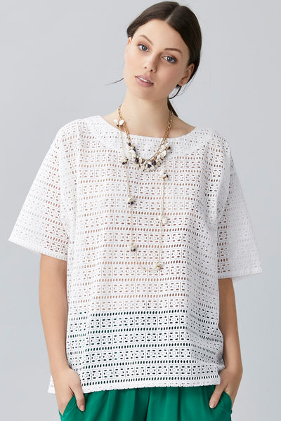 BROIDERY ANGLAISE T-SHIRT