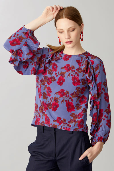 LINNEA SILK BLOUSE