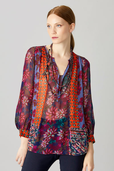 CAMILLE PATCH BLOUSE