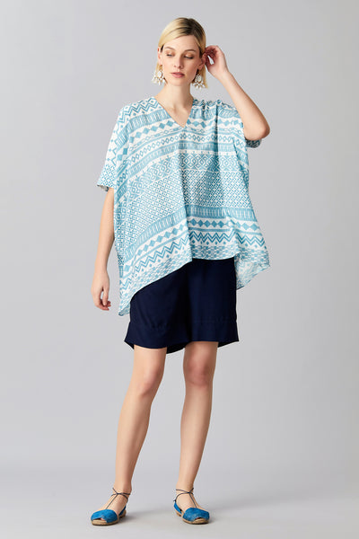 KAIA SILK KAFTAN TOP