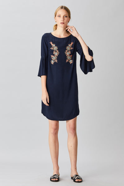 FLEUR SILK SHIFT DRESS