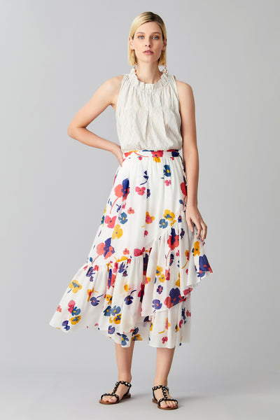 POPPY TIER WRAP SKIRT