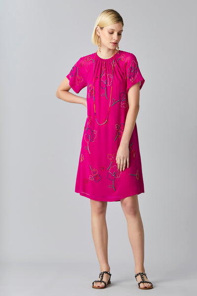 POPPY BEAD GEORGETTE DRESS