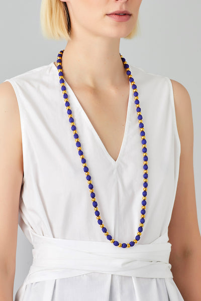 SILK GOLD BEAD NECKLACE