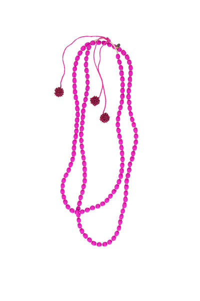 SILK BEAD NECKLACE