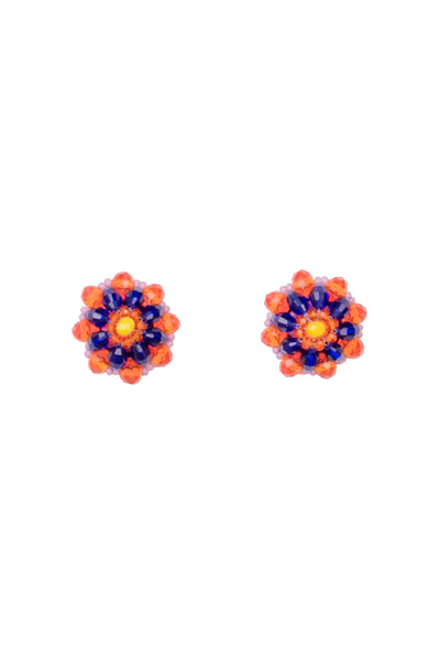 FIESTA BEADED STUD EARRINGS