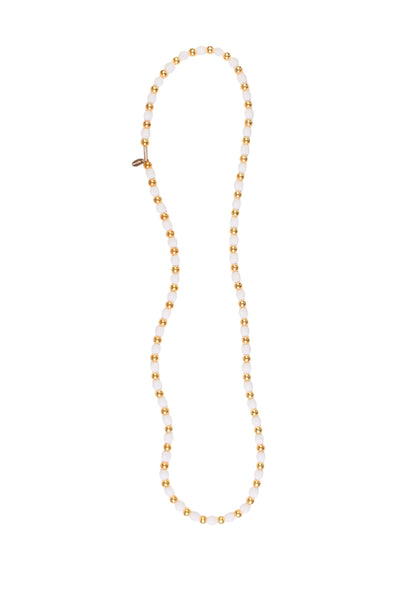 KHADI GOLD BEAD NECKLACE