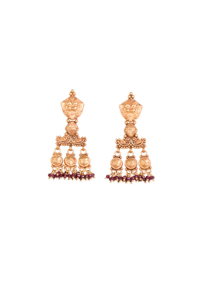 GARNET PALI EARRINGS