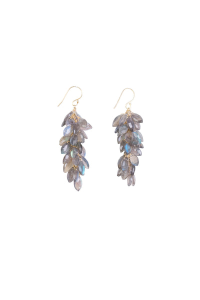 LABRADORITE CLUSTER EARRINGS LG