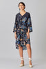 ELLA WRAP SILK DRESS