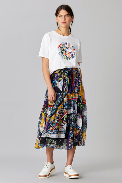 GEORGETTE DRAWSTRING SKIRT