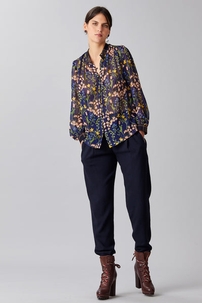 DUO PRINT GEORGETTE BLOUSE