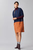 COLOR BLOCK WOOL DRESS