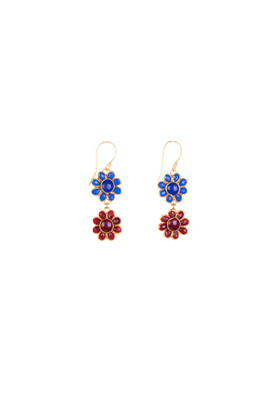 KALI DUO FLORA EARRINGS