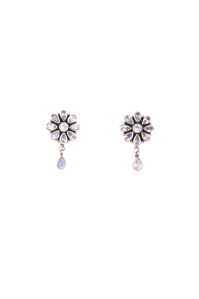 MOONSTONE FLORA EARINGS