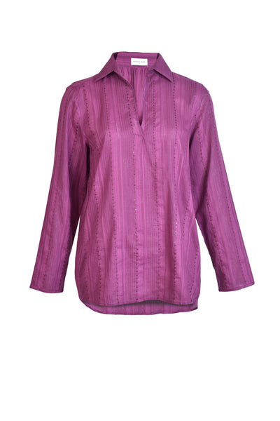 RIYA SEQUIN COTTON SHIRT