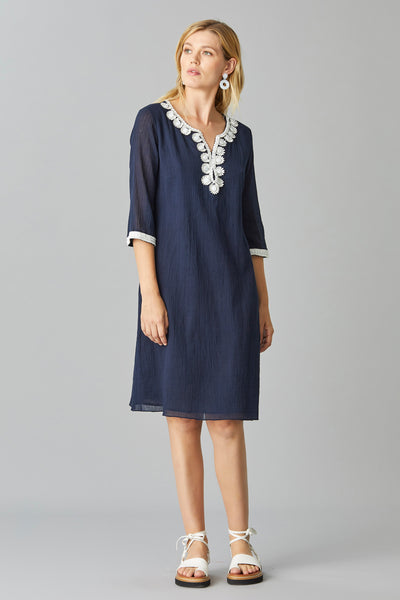 RAFFIA TUNIC DRESS