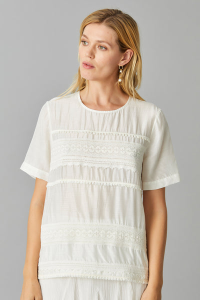 FLYNN SILK COTTON TOP