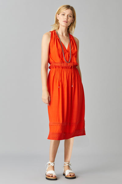 FLYNN CREPE DRESS