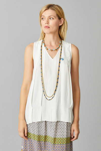 PLEATED VEST TOP