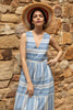 RHEA STRIPED SUNDRESS