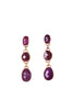 TRIO STONE EARRINGS
