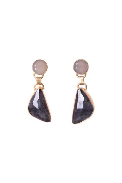 DUO STONE EARRINGS