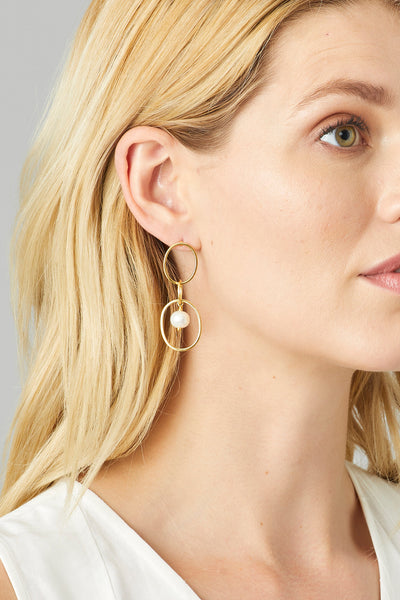 ARIA PEARL TRIO EARRINGS