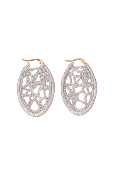 SILVER CHOCHET EARRINGS