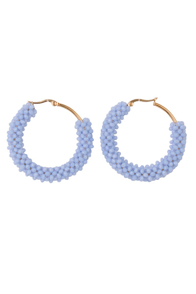 BEADWEAVE HOOP EARRINGS