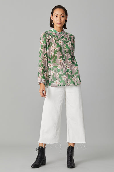 ISOLA SILK GEORGETTE BLOUSE