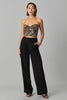 WIDE LEG CREPE PANTS