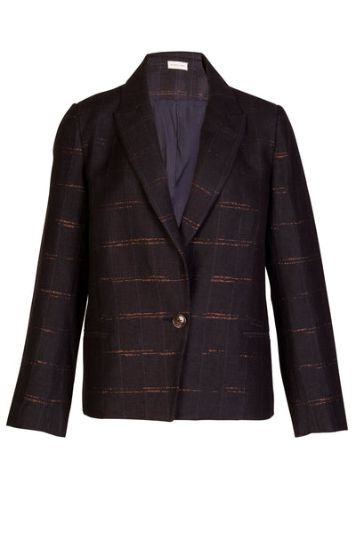 CHECKER WOOL BLAZER