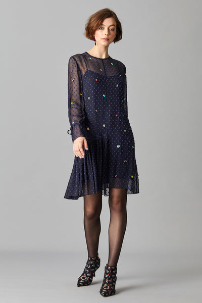 LYLA SEQUIN DRESS & SLIP