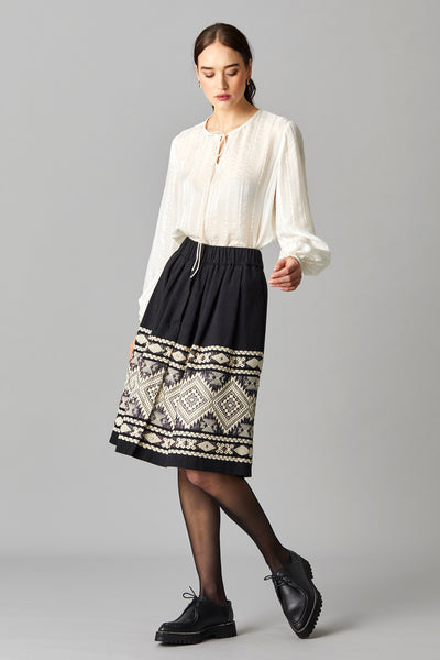 ELLIKA JACQUARD SKIRT