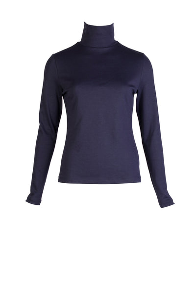 JERSEY TURTLENECK TOP
