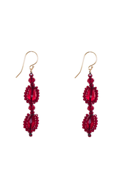 BEAD DUO DROP EARRINGS