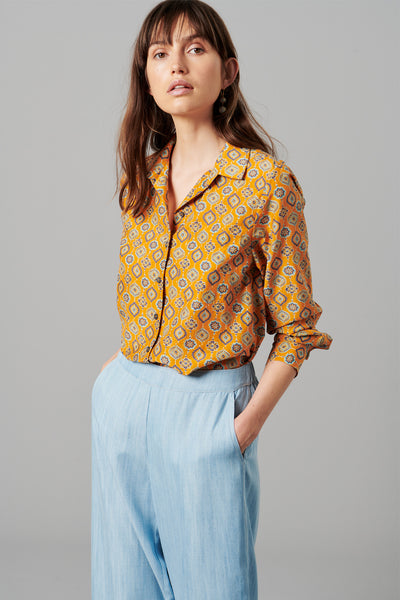 AZRA SILK COTTON SHIRT
