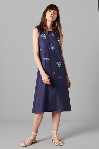 ANYA MIDI SHIFT DRESS