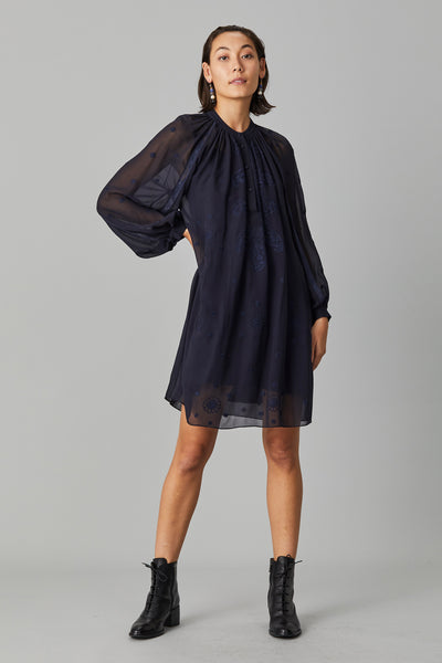 CHIKINKARI SILK GEORGETTE DRESS